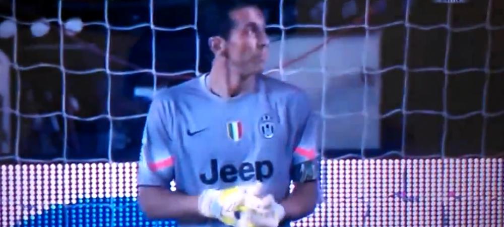 "Vezi cum si-a pacalit Buffon adversarul, inainte ca acesta sa traga din penalty! ""Smecheria"" facuta inainte de sut - VIDEO"