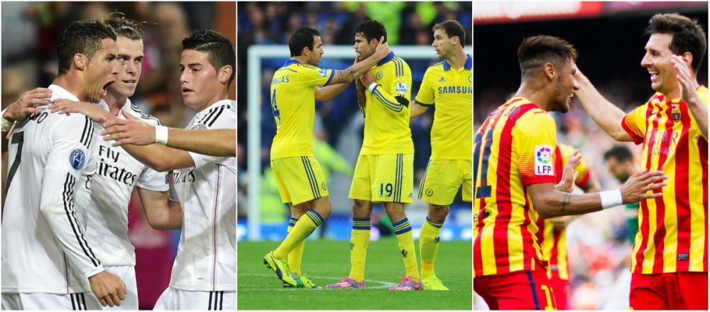 Masinariile de goluri ale Europei. Real si Chelsea au o medie uimitoare, Barca lui Messi si Neymar e doar pe 3! Cum arata TOPUL