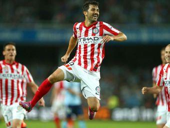 Spania e in criza, goleadorul David Villa marcheaza in continuare! Retras de la nationala, Villa a debutat cu gol la Melbourne