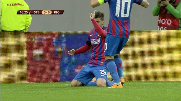 GOOOOL Steaua! Latovlevici a centrat ca Roberto Carlos, Rusescu n-avea CUM sa rateze VIDEO: cum a marcat primul gol