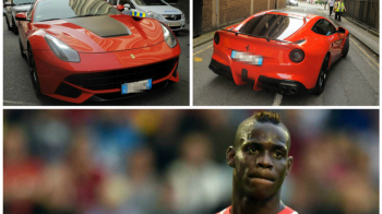 Balotelli a intrat din nou in bucluc! Politia a fost chemata dupa ce jucatorul a amenintat o femeie care ii facea poze la Ferrari