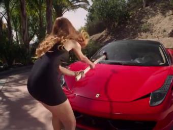 VIDEO A DISTRUS un Ferrari cu barosul! Motivul pentru care un model a luat aceasta decizie!
