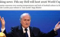 """BREAKING NEWS: Primul Campionat Mondial de fotbal care va fi organizat in IAD!"" Protestul incredibil lansat azi la adresa FIFA"