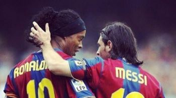 """""""Ne-ai cucerit pe toti cu talentul si umilinta ta!"""" Mesajul emotionant al lui Ronaldinho pentru Messi dupa recordul istoric"""