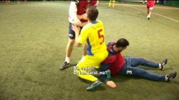 Cel mai urat fault de la minifotbal, facut de un roman! Echipa nationala se pregateste pentru CE, care e LIVE la Sport.ro