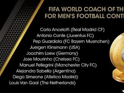 Ei sunt cei trei antrenori care au mai ramas in cursa pentru titlul FIFA al tehnicianului anului