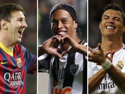 """ZEUL a vorbit :) Ronaldinho pune capat discutiei """"Messi sau Ronaldo?"""". Cine este favoritul brazilianului"""
