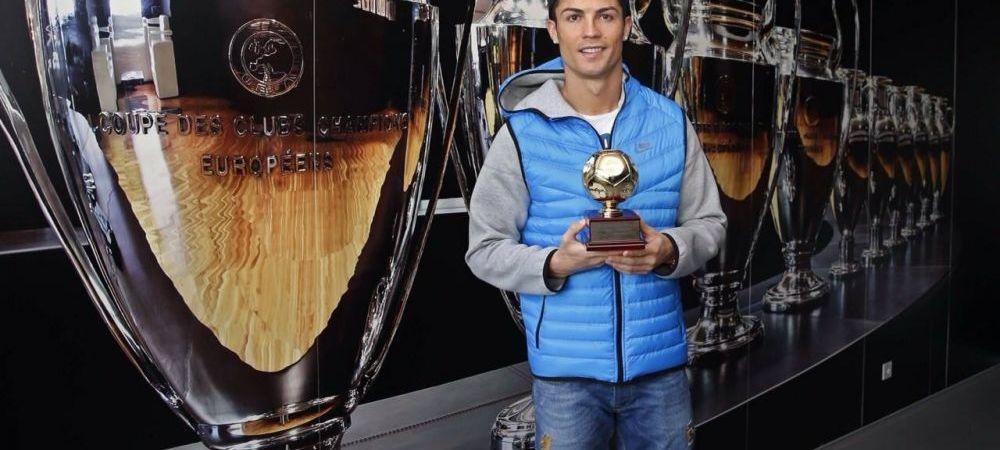 FOTO Cristiano Ronaldo i-a luat din nou fata lui Messi! A primit un nou premiu individual pentru golurile sale!