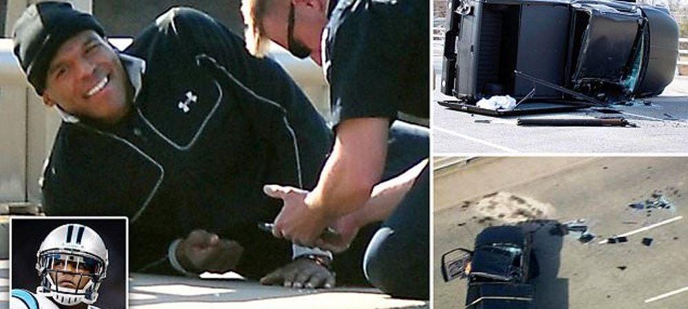 Un jucator de fotbal american, implicat intr-un accident violent. Cum a ajuns sa arate masina in care se afla