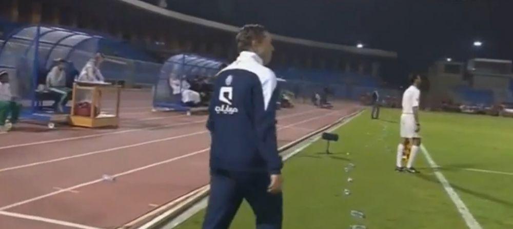 Nebunie totala la ultimul meci al lui Reghe la arabi! Ce a aparut pe cer dupa primul gol. VIDEO