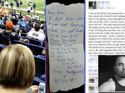 Gestul facut de acest suporter in timpul unui meci de fotbal. A ajuns viral pe internet. FOTO