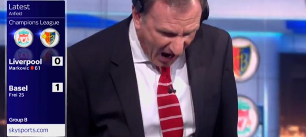 Varianta englezeasca a comentatorului nebun din Italia! Cum s-a trait eliminarea lui Liverpool in studioul Sky Sports: VIDEO