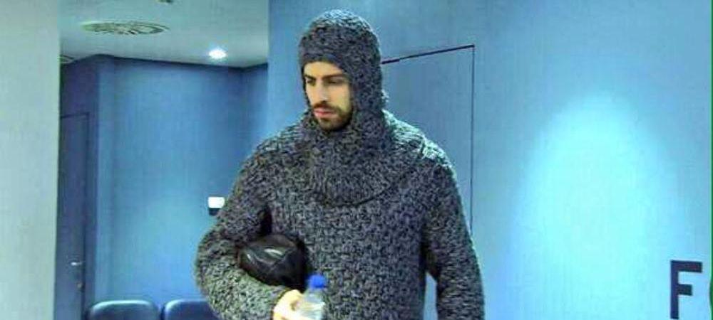 Caterinca anului la Barcelona. Cum s-a transformat Pique intr-un personaj din Game of Thrones inaintea meciului cu PSG. FOTO