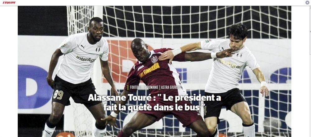 "Dezvaluiri incredibile in L'Equipe ale unui fost jucator de la Astra: ""Niculae facea cheta in autocar pentru cauciucuri de iarna"""