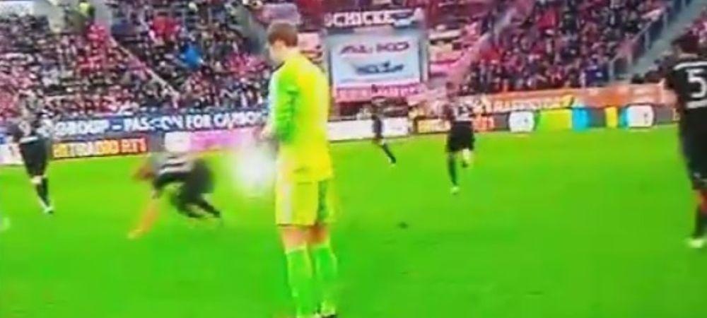 Clipul zilei in Germania! Toata lumea era linistita, cand apare Robben! Toti au inceput sa rada cand au vazut ce a patit. VIDEO