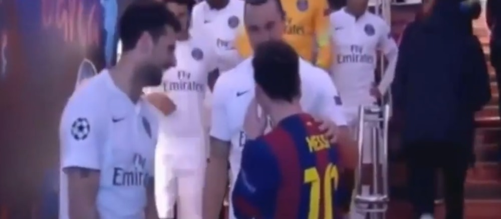 """""""Nu! NU!"""" Reactia lui Zlatan cand a fost intrebat ce a discutat in SECRET cu Messi pe teren la Barca - PSG"""
