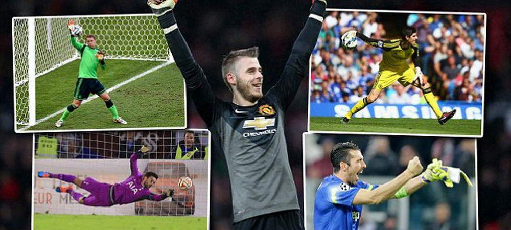 "TOP 10 PORTARI in fotbal. E David ""The Wall"" de Gea peste Manuel Neuer? Clasamentul facut de Daily Mail dupa United - Liverpool"