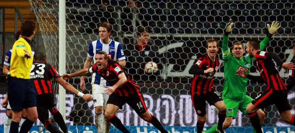 Meci HALUCINANT in Bundesliga! Hertha conducea in minutul 90 cu 4-2 la Frankfurt! Ce s-a intamplat pana la final e senzational