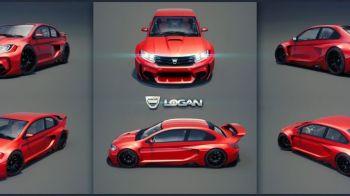"""Ar putea fi cea mai TARE Dacia din istorie! Cum arata conceptul """"Gran Turismo"""" pentru Logan, care poate rivaliza chiar si cu BMW"""