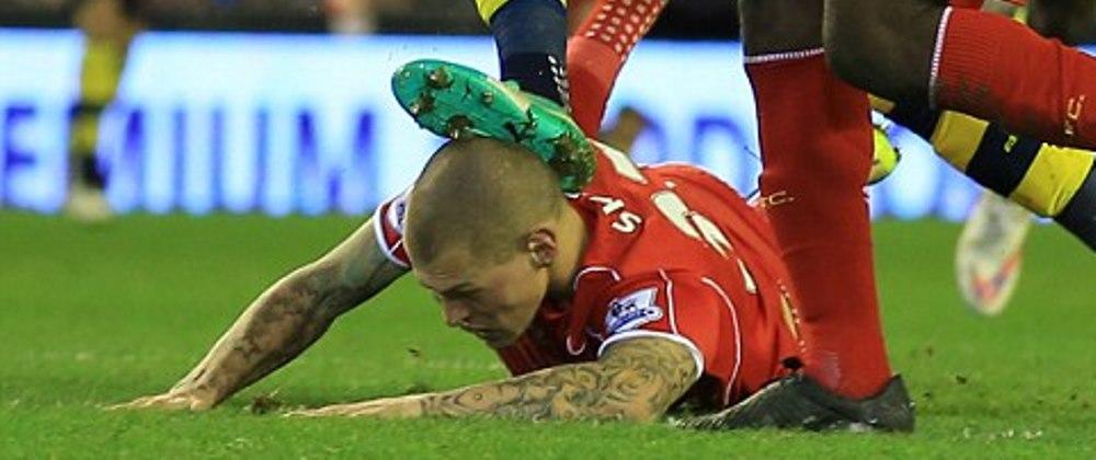 """""""E cea mai mare taietura vazuta vreodata de mine!"""" Cum arata capul lui Skrtel dupa accidentarea cu Arsenal. FOTO"""
