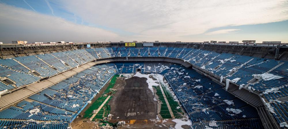 Imagini APOCALIPTICE cu o arena importanta din istoria nationalei. Cum arata FANTOMA stadionului Silverdome din SUA, la 12 ani de la abandon. FOTO
