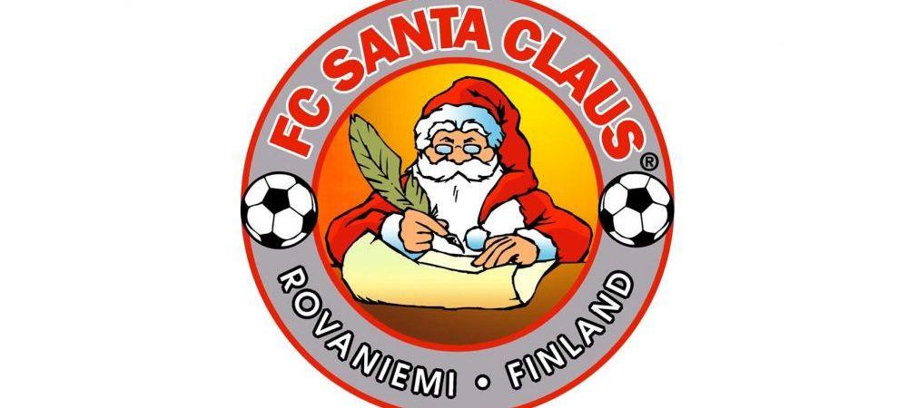 Cum arata singura echipa din lume unde Mos Craciun face tactica inainte de meci. Imagini fantastice cu FC Santa Claus din Finlanda