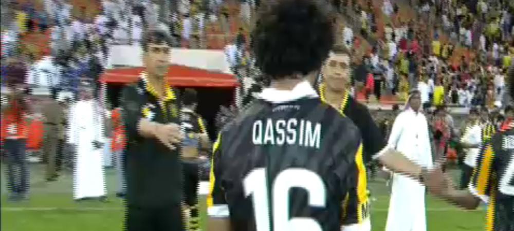 Scena INCREDIBILA pentru Piturca la finalul meciului pierdut cu Reghe! Ce a facut un jucator de la Al Ittihad catre Piti. FOTO