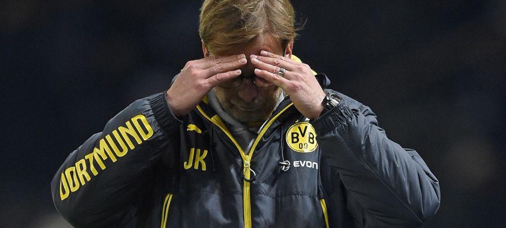 Sefii Borussiei nici nu se gandesc sa-l demita pe Klopp, in ciuda turului DEZASTRUOS de campionat! Dortmund e la retrogradare