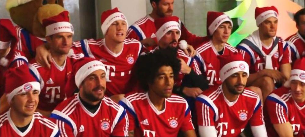 Show total la Bayern Munchen! Jucatorii s-au costumat in Mos Craciun si au inceput sa cante. Ce a iesit. VIDEO