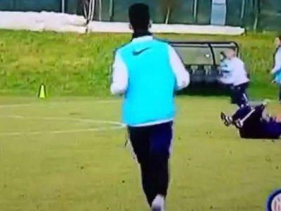 A patit-o din nou! Roberto Mancini, facut KO de minge la antrenamentul lui Inter! VIDEO