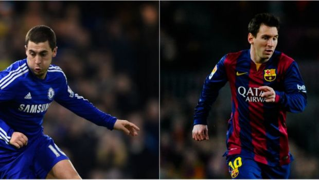 Mourinho i-a transmis ca vrea sa fie mai bun ca Messi, dar nu se astepta la asta! :) Belgianul Hazard l-a copiat pe starul Barcei la cel mai rau capitol