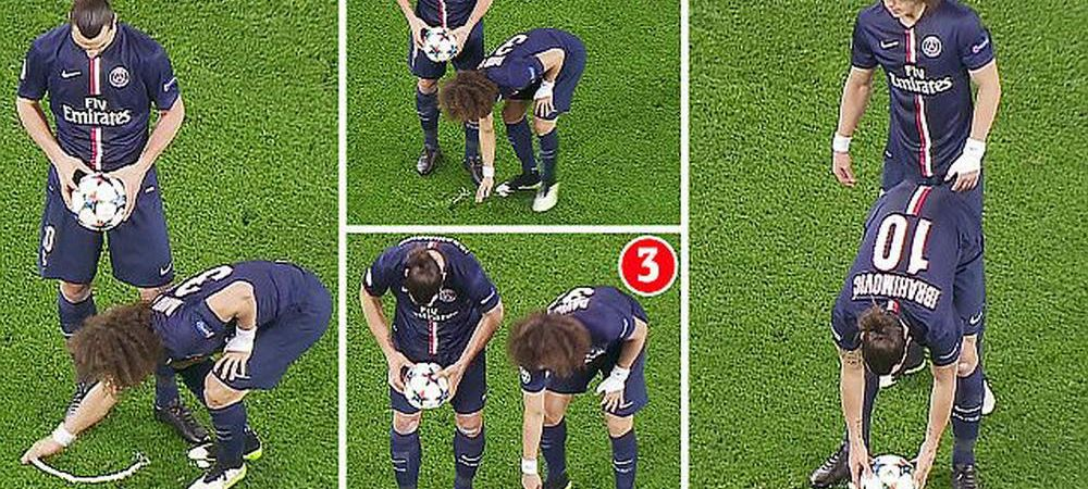MAGIA lui David Luiz! Brazilianul a mutat o lovitura libera marcata cu spray-ul de arbitru. Cele mai tari reactii