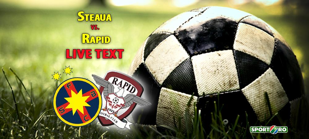 SOC URIAS in Ghencea: Steaua 0-1 Rapid. Gecov a marcat unicul gol, Tanase si Papp au trimis in BARA, Steaua a avut un penalty neacordat in min 92, iar Sapunaru a fost eliminat