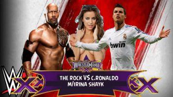 VIDEO FABULOS | Cristiano Ronaldo, in ringul de wrestling cu The Rock :) Cum s-a terminat meciul