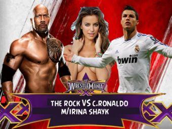 VIDEO FABULOS   Cristiano Ronaldo, in ringul de wrestling cu The Rock :) Cum s-a terminat meciul