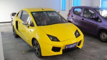 FOTO FABULOS! Cea mai proasta copie auto din lume! Asa arata Lamborghini made in China. Are 10 cai :)