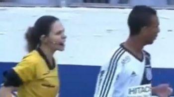 Ea este prima femeie arbitru din lume la care niciun jucator nu va mai rasti. Ce i-a facut unui fotbalist :) VIDEO