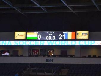 Romania si-a DISTRUS adversara la minifotbal! India 0-21 Romania la Cupa Mondiala de minifotbal!
