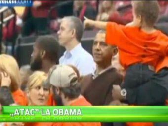 Obama era s-o PATEASCA la meci! Ce i s-a intamplat in tribune :)