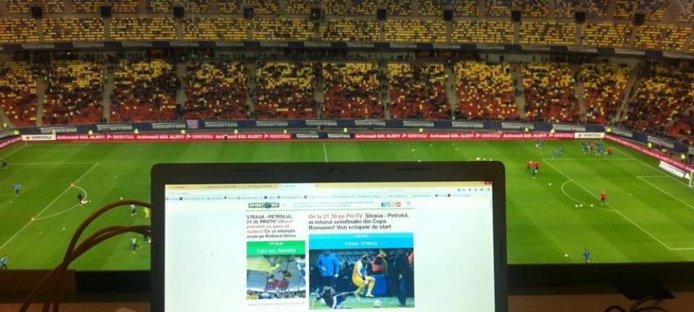 Tot ce s-a intamplat in tribune pe National Arena FAZA CU FAZA | Ploiestenii raman cu atmosfera, stelistii joaca FINALA CUPEI