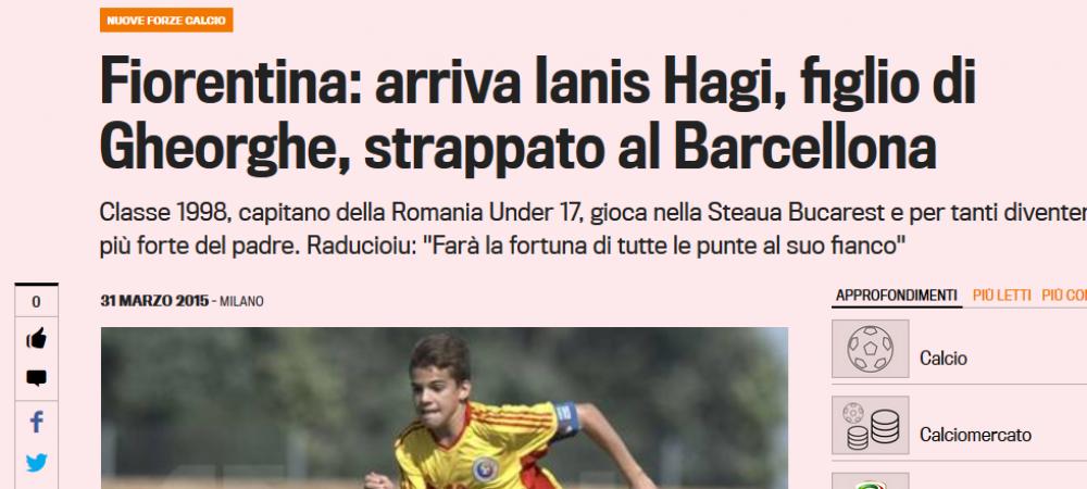 "Ianis PLEACA din Romania, dupa umilinta de la nationala! Hagi anunta transferul: ""E valoros, sunt mandru de el"""