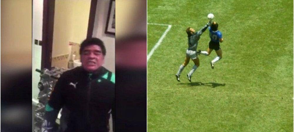 "Candva ""mana lui Dumnezeu"", acum ""pumnii bestiei"" :) Maradona si-a varsat nervii pe un manechin, in timpul unui antrenament de box"