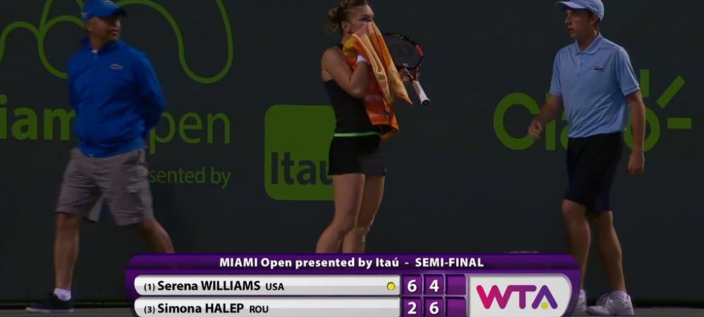 Moment de uluire pentru Simona in meciul cu Serena. Ce reactie a avut cand si-a dat seama ca a castigat setul! VIDEO