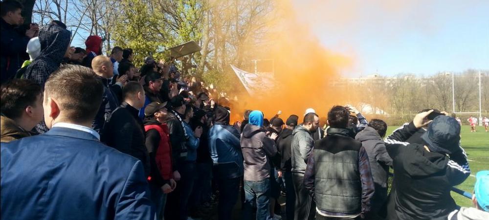 "Ultrasii Stelei sunt la rugby, acum se joaca Steaua - Dinamo! Galeria canta ""Mi-e dor de Steaua"" VIDEO"