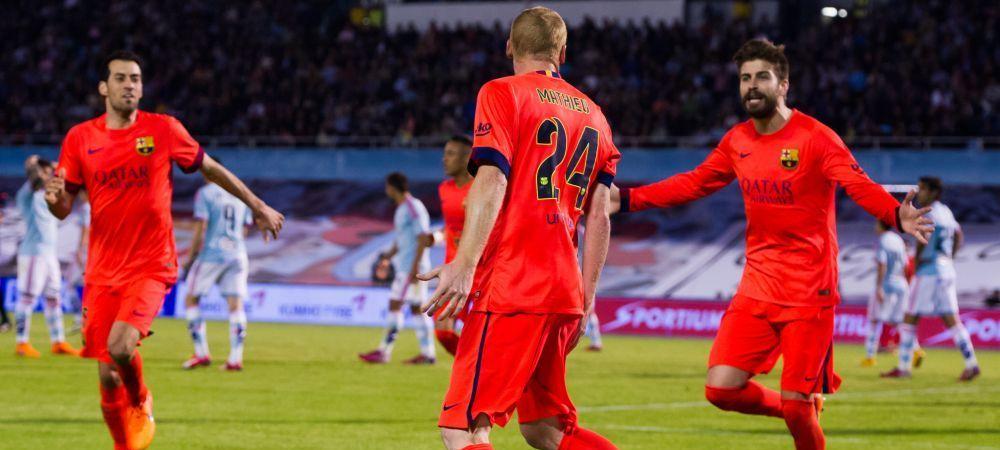 Celta 0-1 FC Barcelona si Marseille 2-3 PSG! Chiriches si Panti, titulari in Anglia! Real 9-1 Granada! Vezi toate rezultatele din Europa: