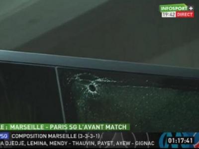 Incredibil: inca un atac huliganic in fotbal! Autocarul lui PSG a fost atacat in deplasarea de la Marseille! FOTO