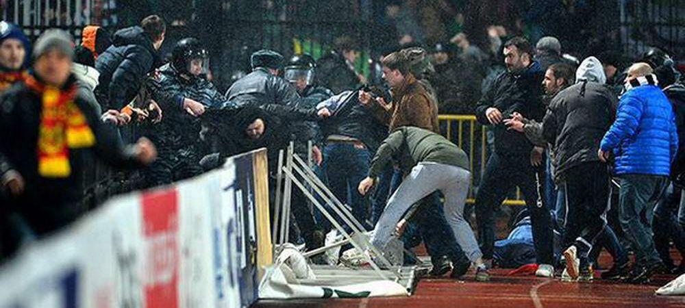 Incidente SOCANTE in Rusia! Florin Costea, martorul unei batai incredibile intre suporteri pe stadion! VIDEO
