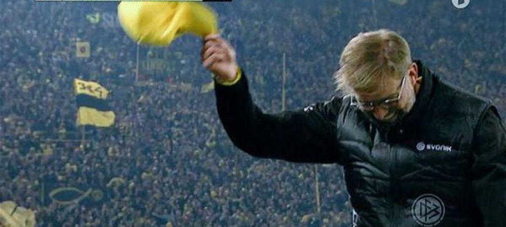 JOS PALARIA :) Reactie geniala a lui Klopp dupa golul fenomenal inscris de Borussia in prelungiri! VIDEO