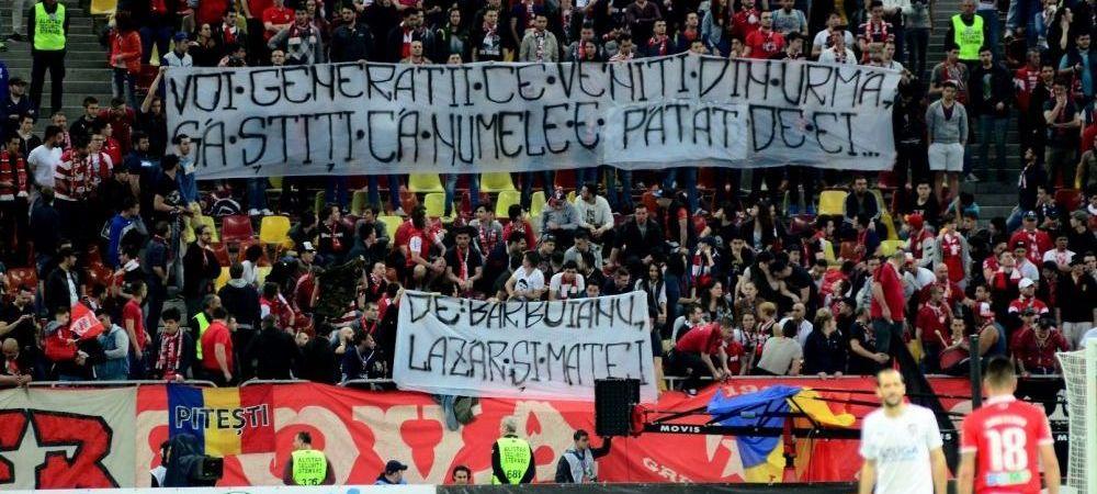 GALERIE FOTO   Ce nu s-a vazut aseara la derby-ul de pe National Arena: bannere, suporteri si un Borcea Jr. de nerecunoscut!