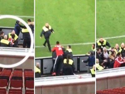 VIDEO Incident SOCANT! Spahic, DAT AFARA de Leverkusen dupa ce a lovit un steward cu capul in gura!